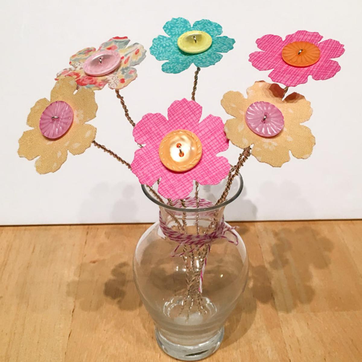 Create a button bouquet