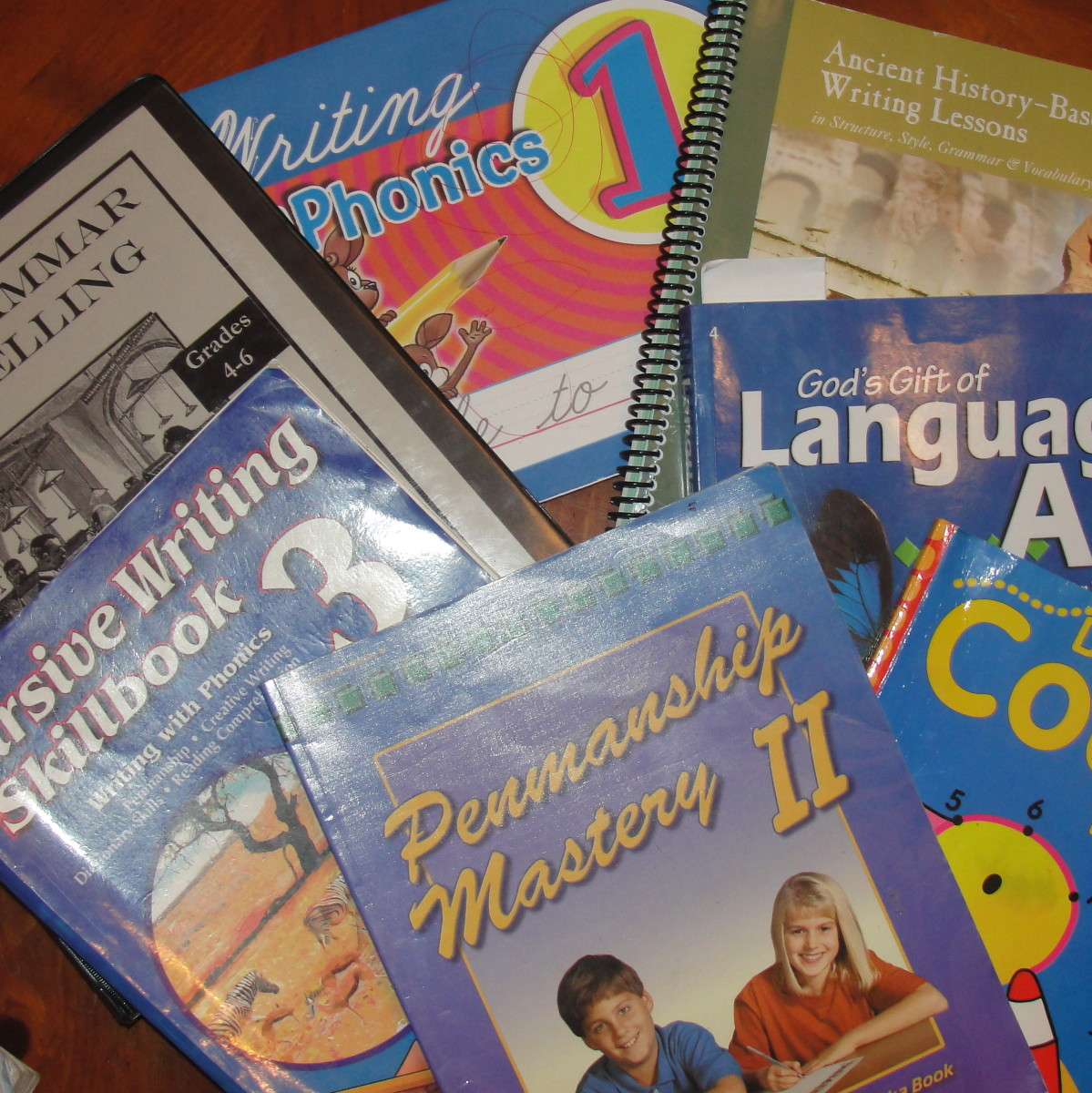 Some of the books we use during the Language Hour