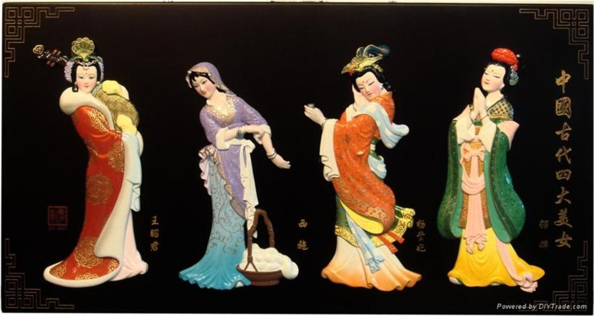 Four ancient traditional Chinese beauties