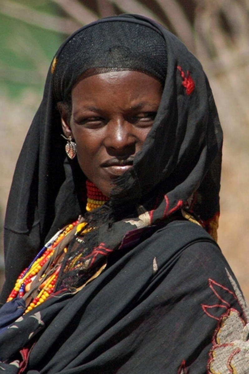African Woman in Muslim Dress
