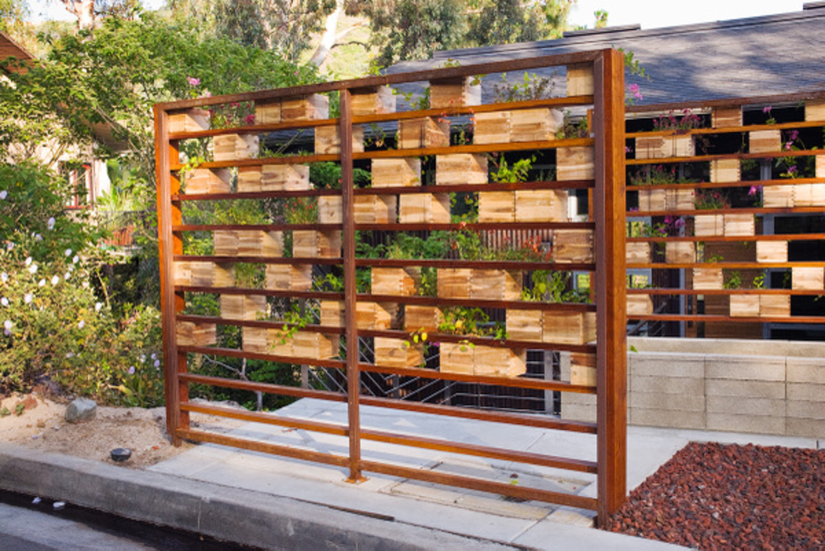 Aerial Herb Garden Screen by Ed and Lisa Applebaum