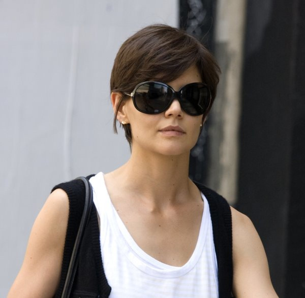 Boyish cut for women.
