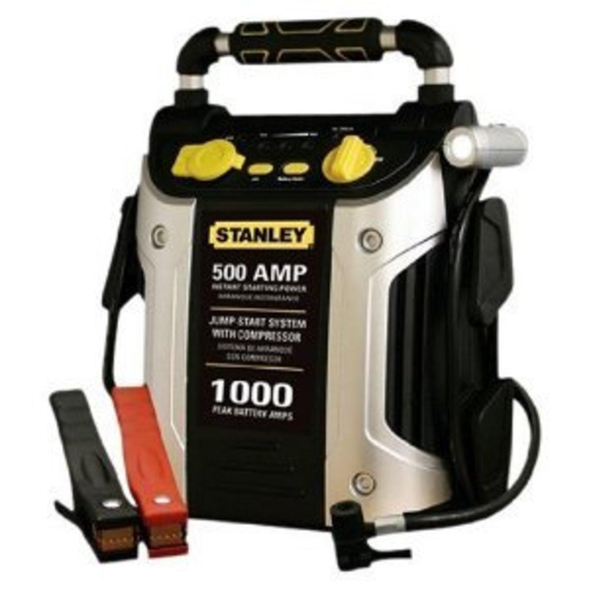 Stanley J5C09 500 Amp Jump Starter with Compressor