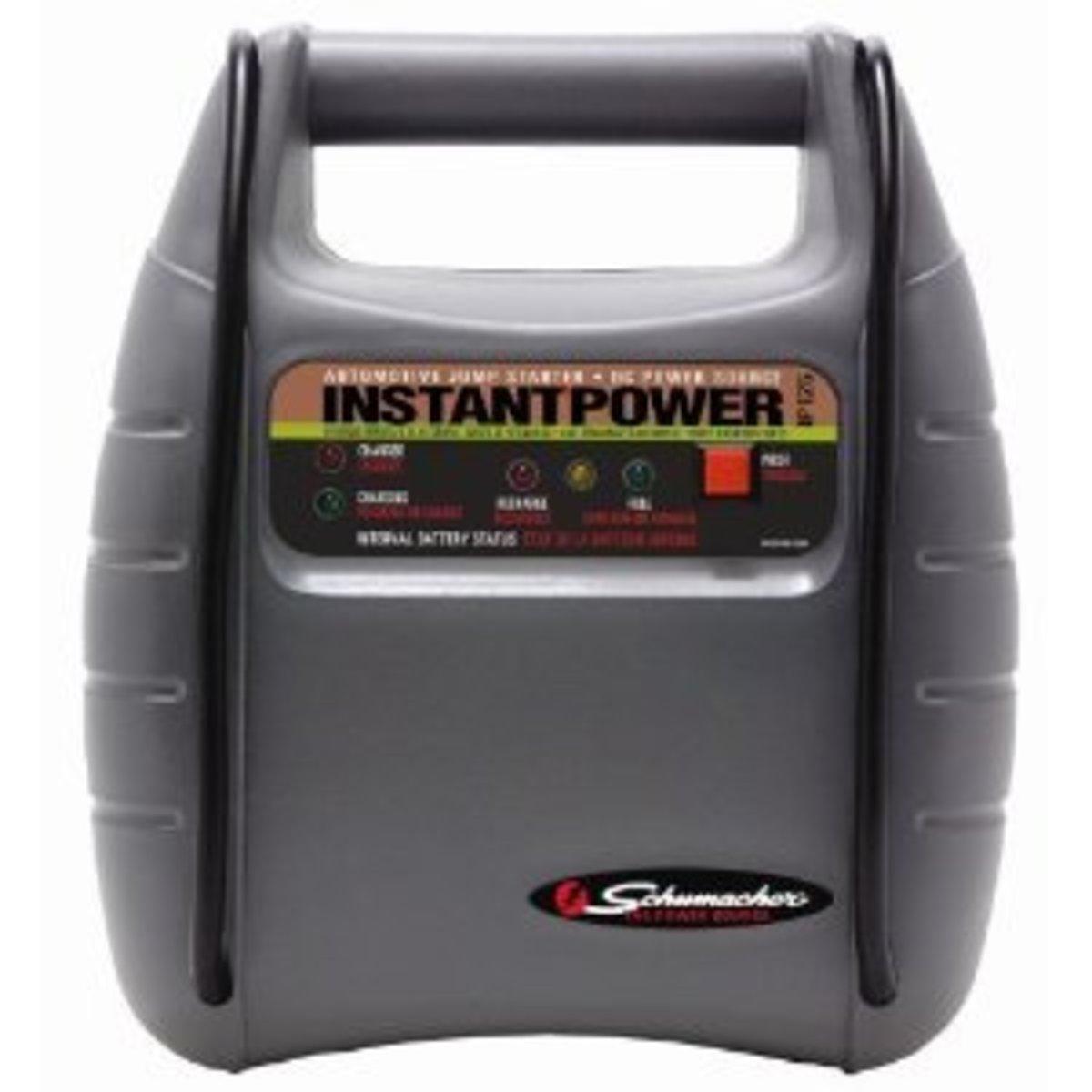 Schumacher IP-125 Instant Power Jump Starter With 12 Amp Hour Battery