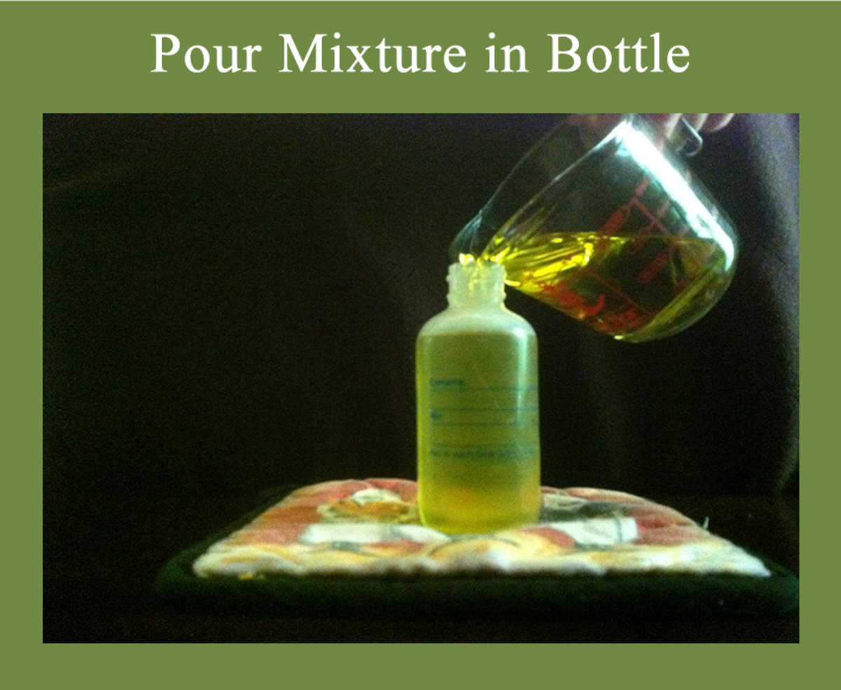 4. Pour into an Application Bottle Use a Bottle with a Small Opening to Help Control Application.