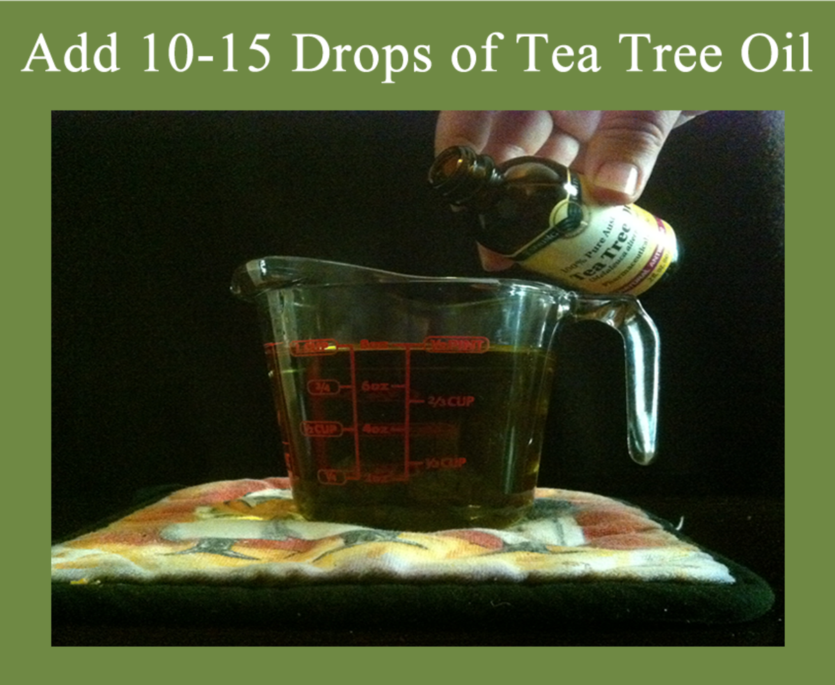 2. Add 10 to 15 Drops of Tea Tree Oil