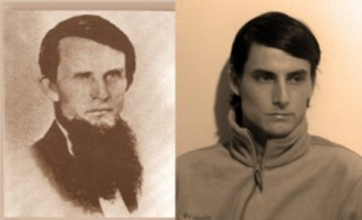 Rachael also figured that her husband (on right) was Annie and Edgar Cayce's grandfather (on left) in his past life.