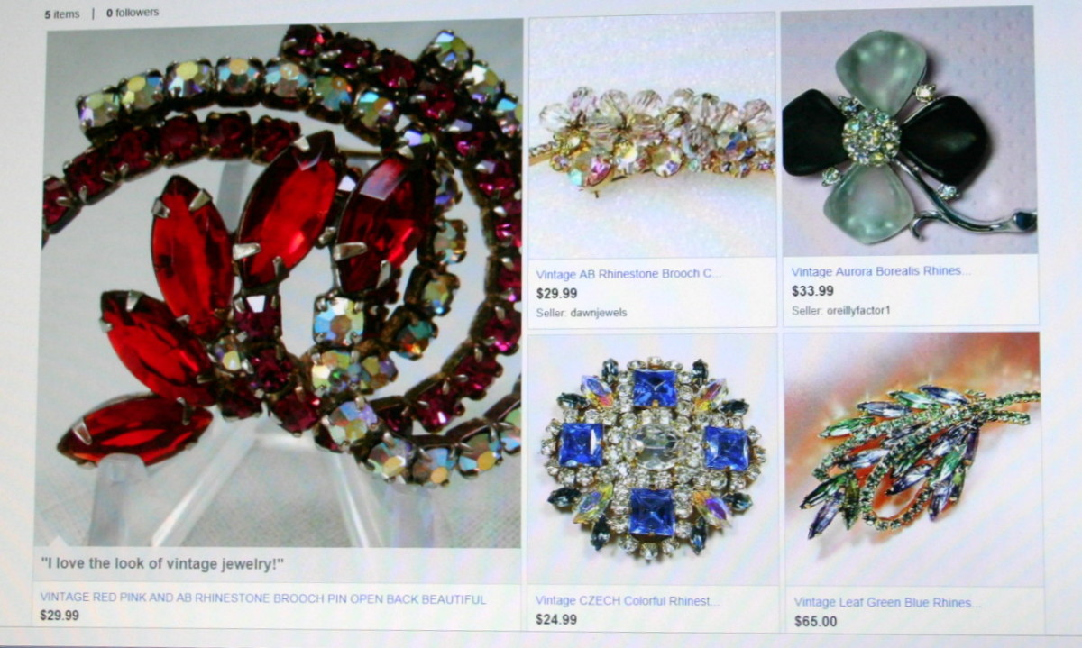My vintage brooch collection on eBay.