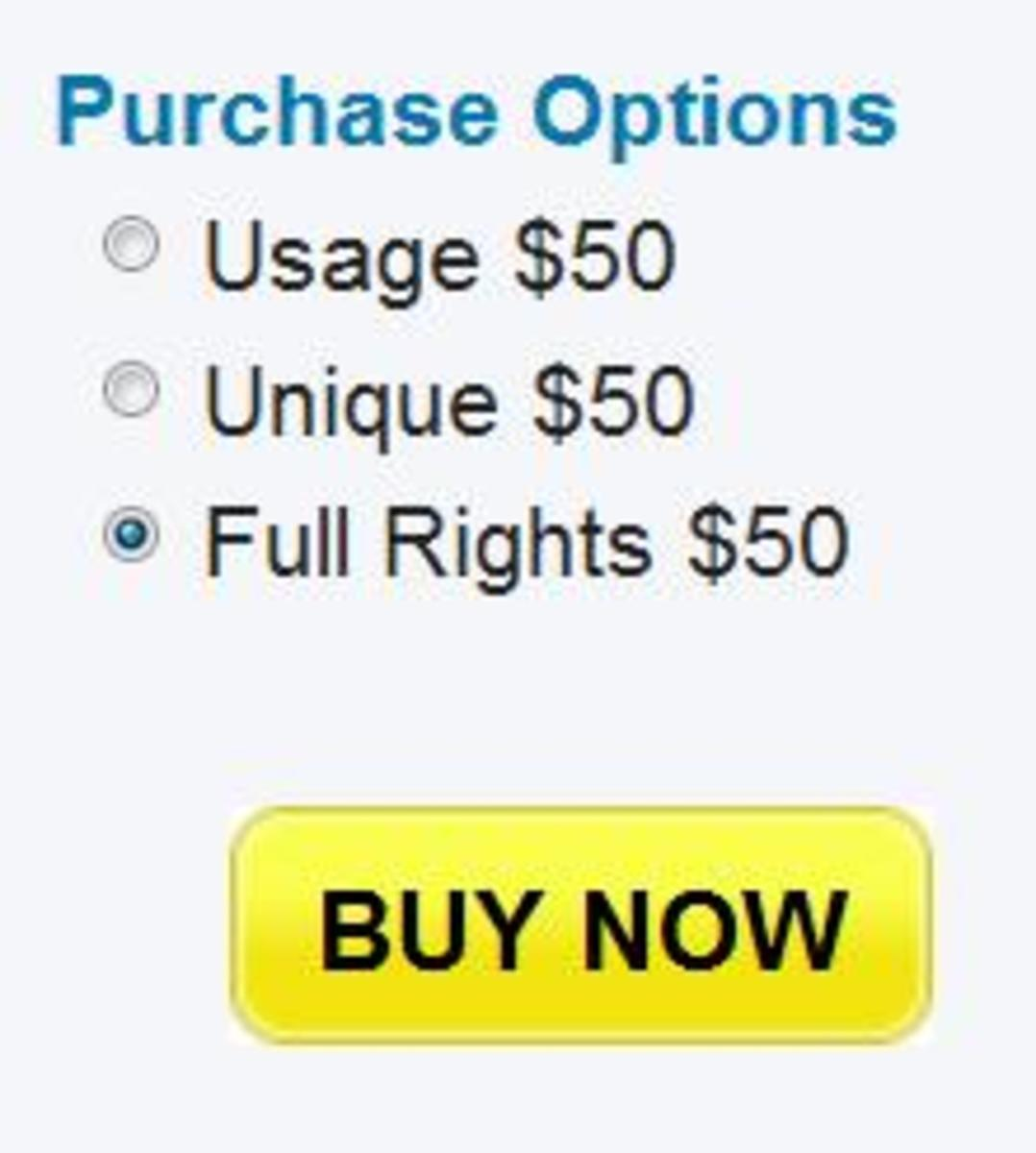 Purchase options for my 625 word article on Constant Content.