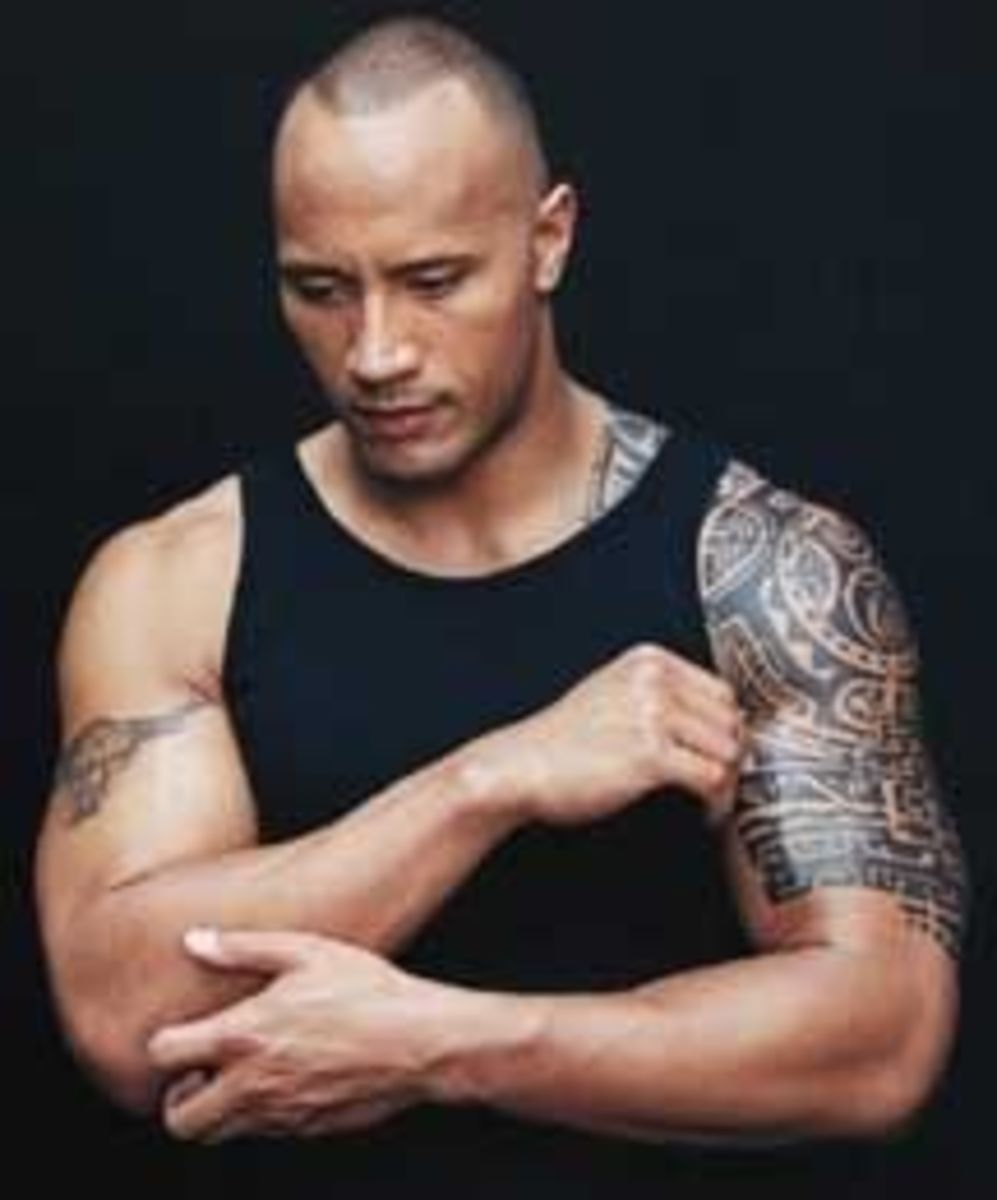 Samoan tattoos on The Rock