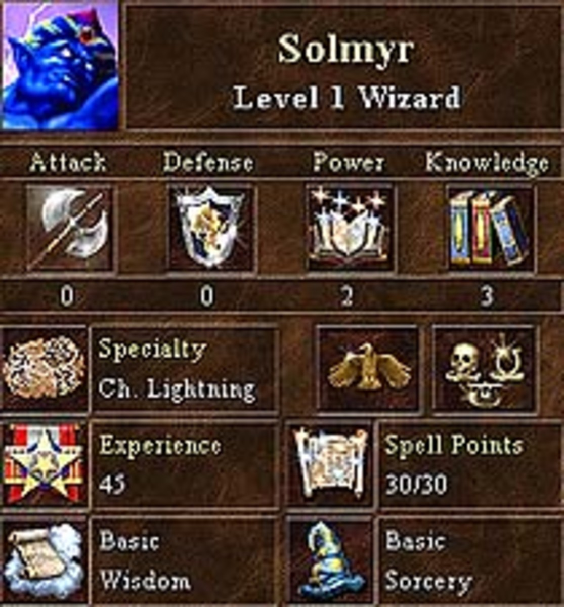 Solmyr has the ability to summon a chain of lightning bolts that easily decimate the opposition.