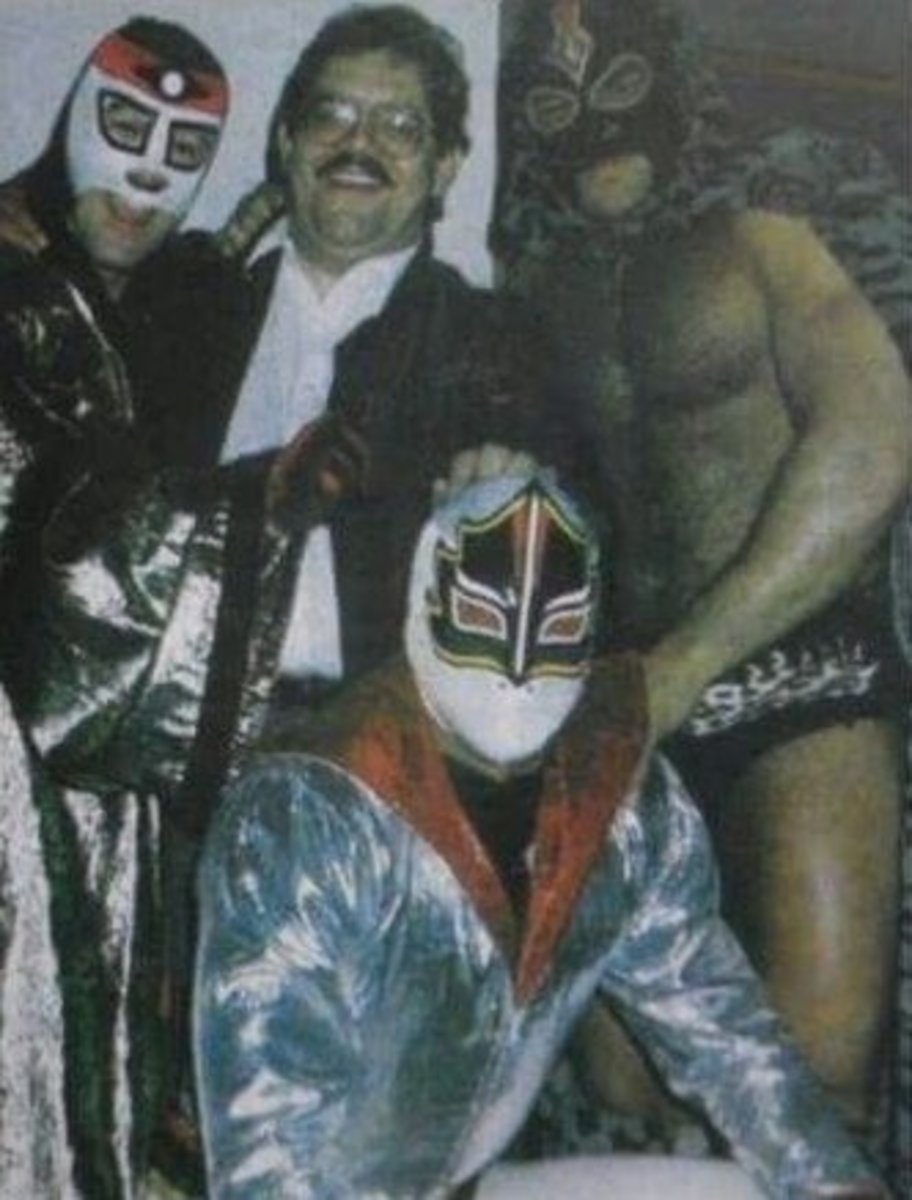 Octagon, Antonio Pena, a masked Konnan and Mascara Sagrada
