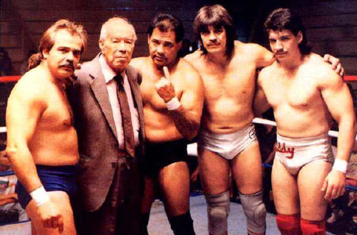 Mando, Gory, Chavo, Hector and Eddy Guerrero
