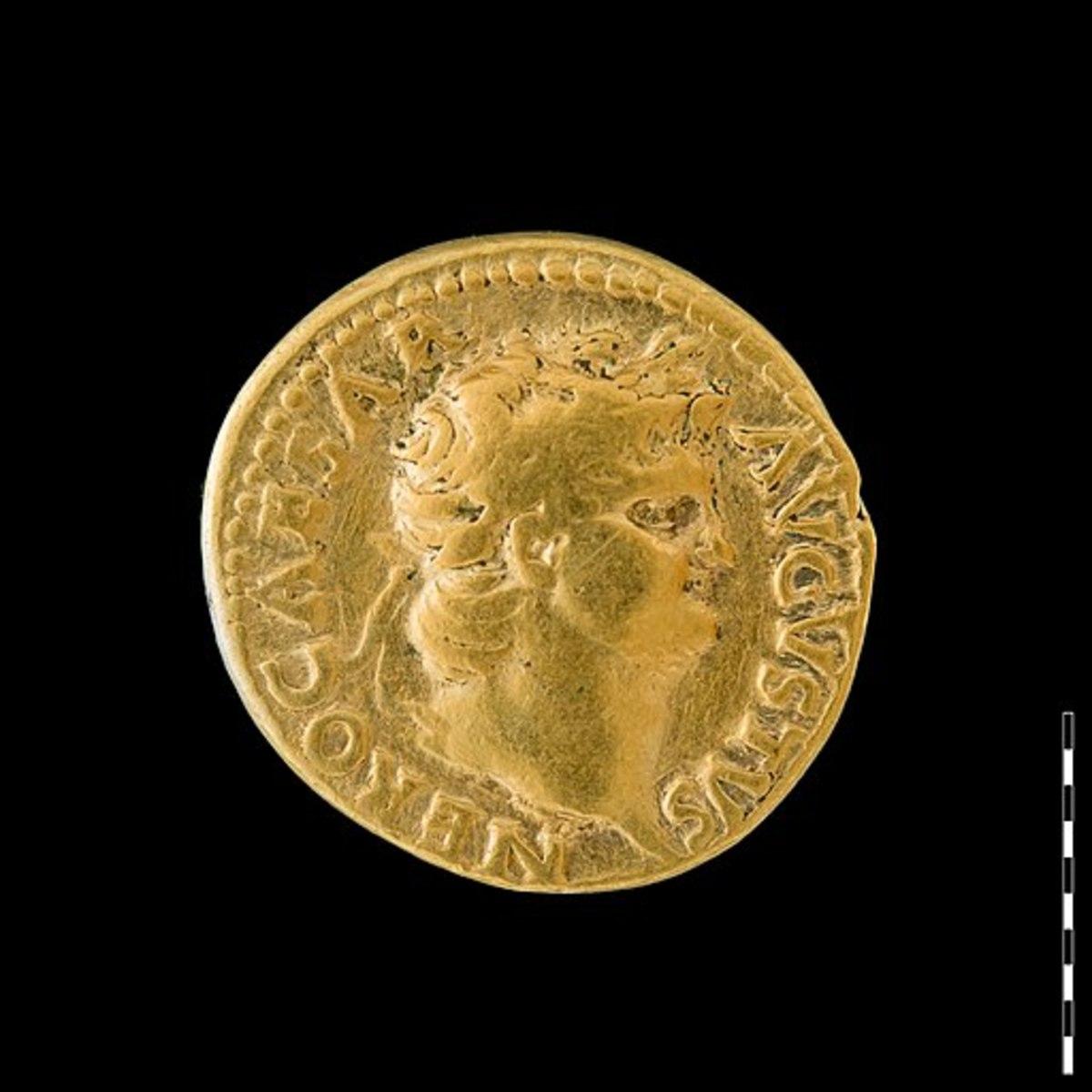 Roman coin of Emperor Nero