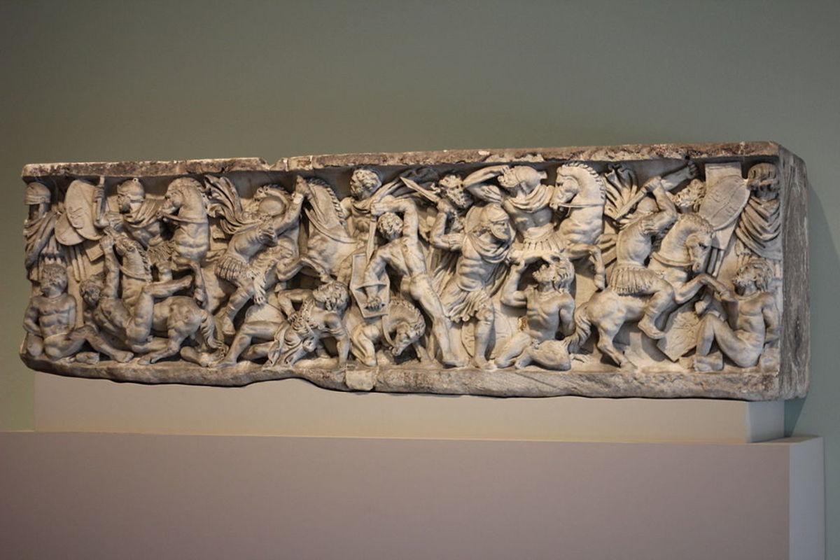 Romans in battle against Celts