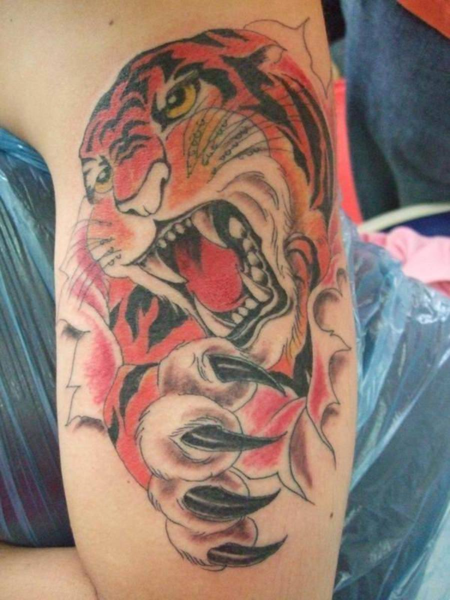The Best Tiger Tattoos 3D Tiger tattoos are not restricted to men only.