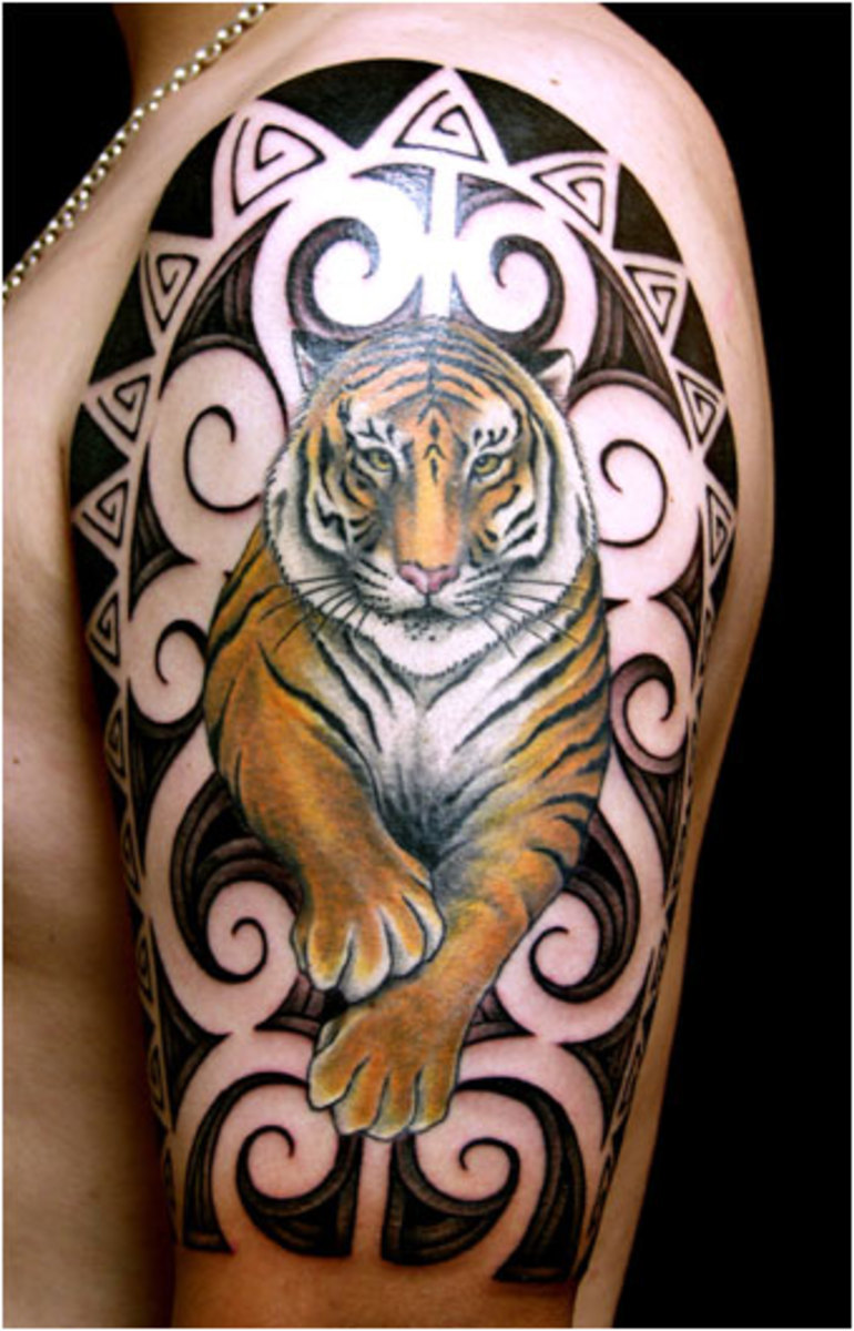 Amazing tiger tattoo