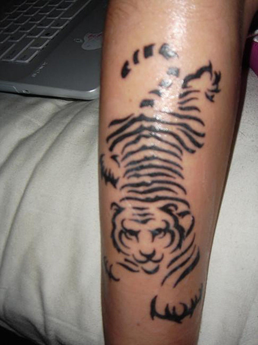 Crouching tiger tattoo