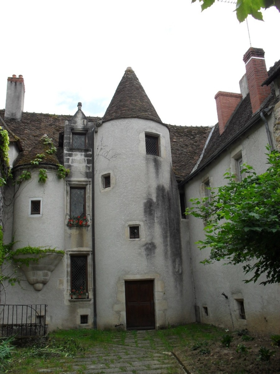 A lovely 15th And 16th Century Mansion Remarkable For Its Circular Tower