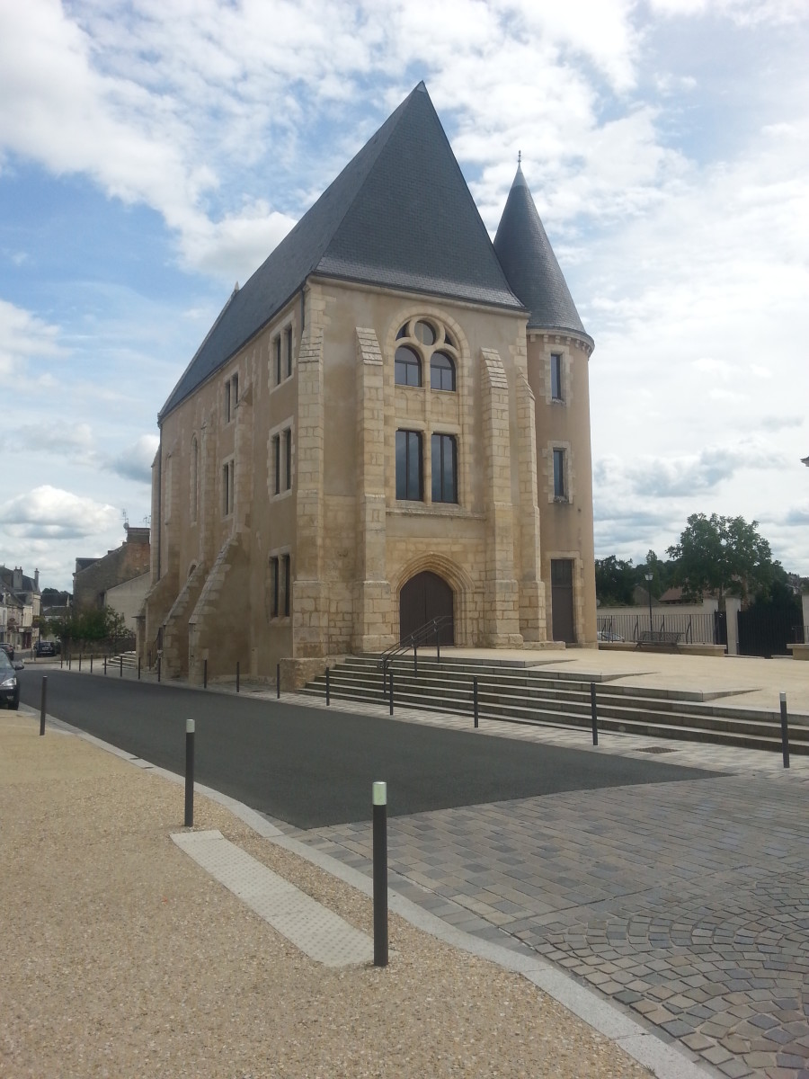 The recently restored Saint-Étienne Church in Argenton Sur Creuse