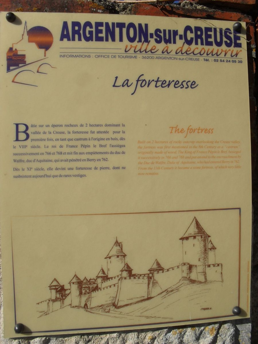 The way the fortress used to look during medieval times.