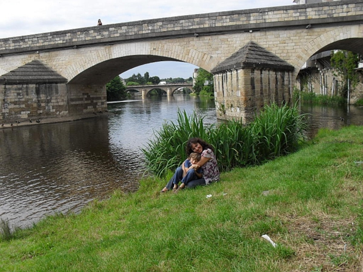 Old Bridge in Argenton Sur Creuse.  This is one of our preferred places to feed the ducks