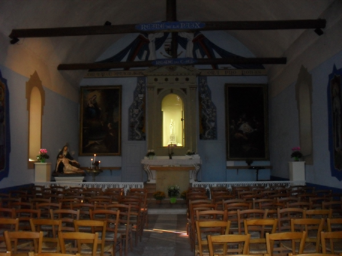 Interior of the Chapel of the Bonne Dame
