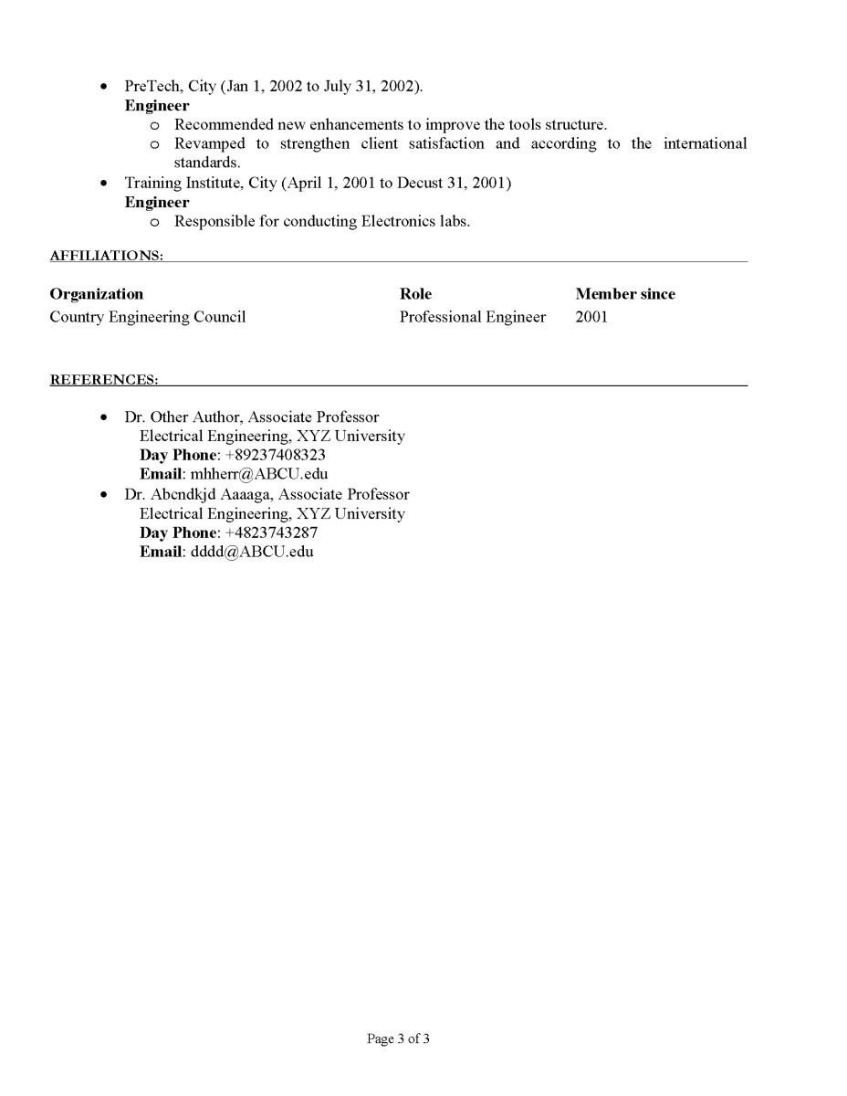 CV / Resume Sample 2 Page 3