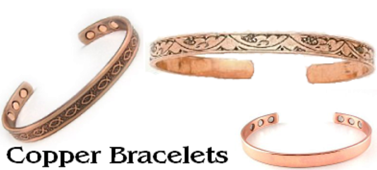 Copper bracelets come in all kinds of styles and designs.