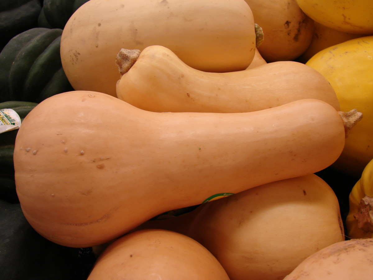 Be sure to use a large-bladed, heavy-handled knife when cutting this squash for steaming.