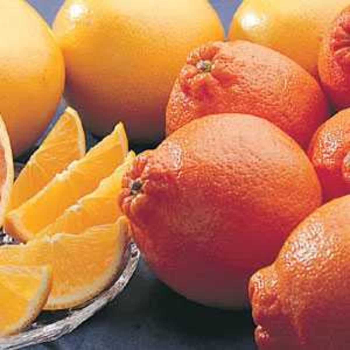 Tangelos, also called Honeybells, peel easily and are among the sweetest of the citrus fruits.