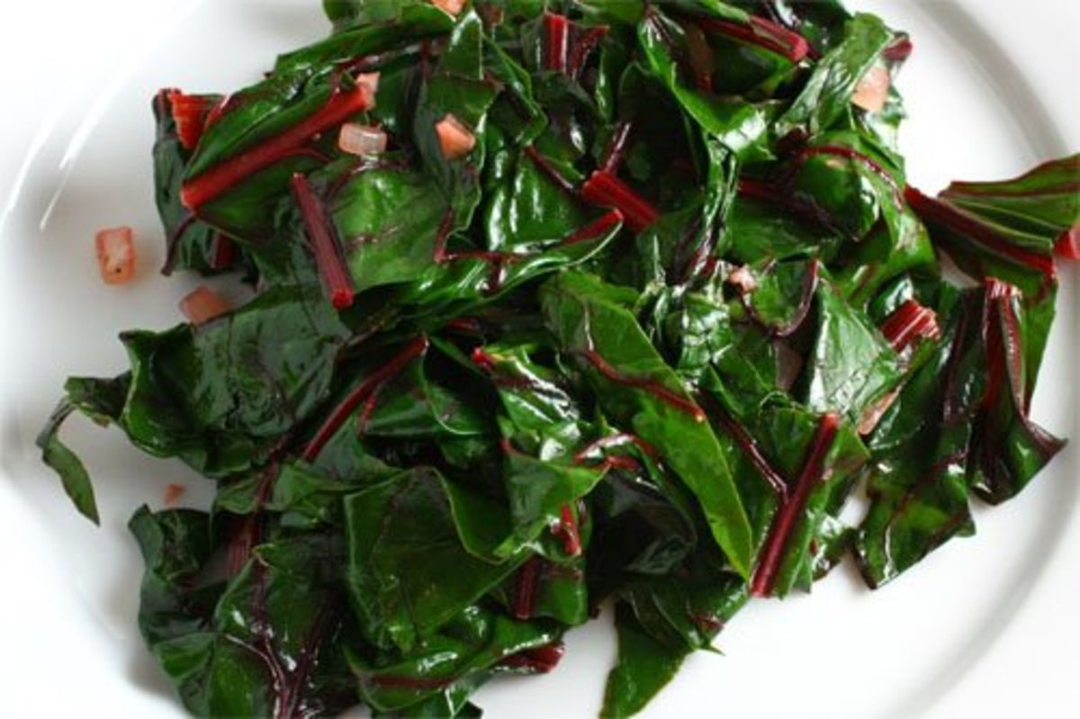Swiss chard cooked to just wilting is perfectly gorgeous. You may want to try Kevin's recipe.