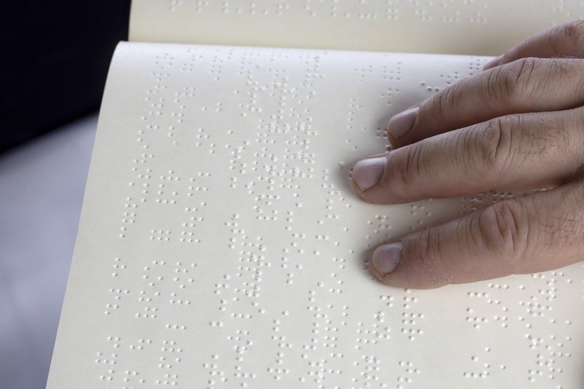 This is Braille. I had to learn it in order to read after becoming blind.