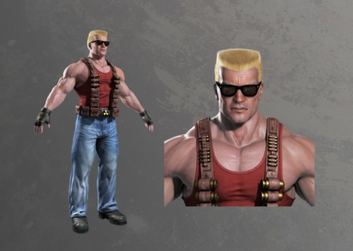 Duke Nukem in Duke Nukem Forever concept art from the 2009 media leak.