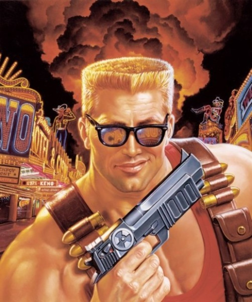 Duke Nukem on the cover of the DNF E3 2001 Trailer promo. Some say he looks like Drew Carey in this picture.
