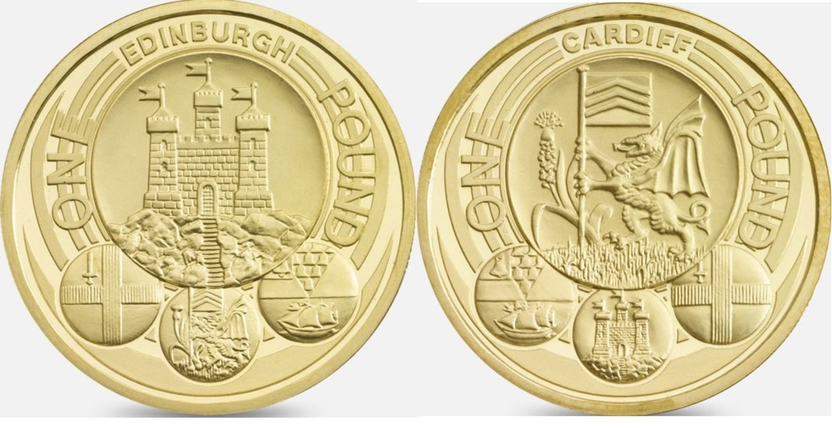 The 2011 Edinburgh & Cardiff One Pound Coins