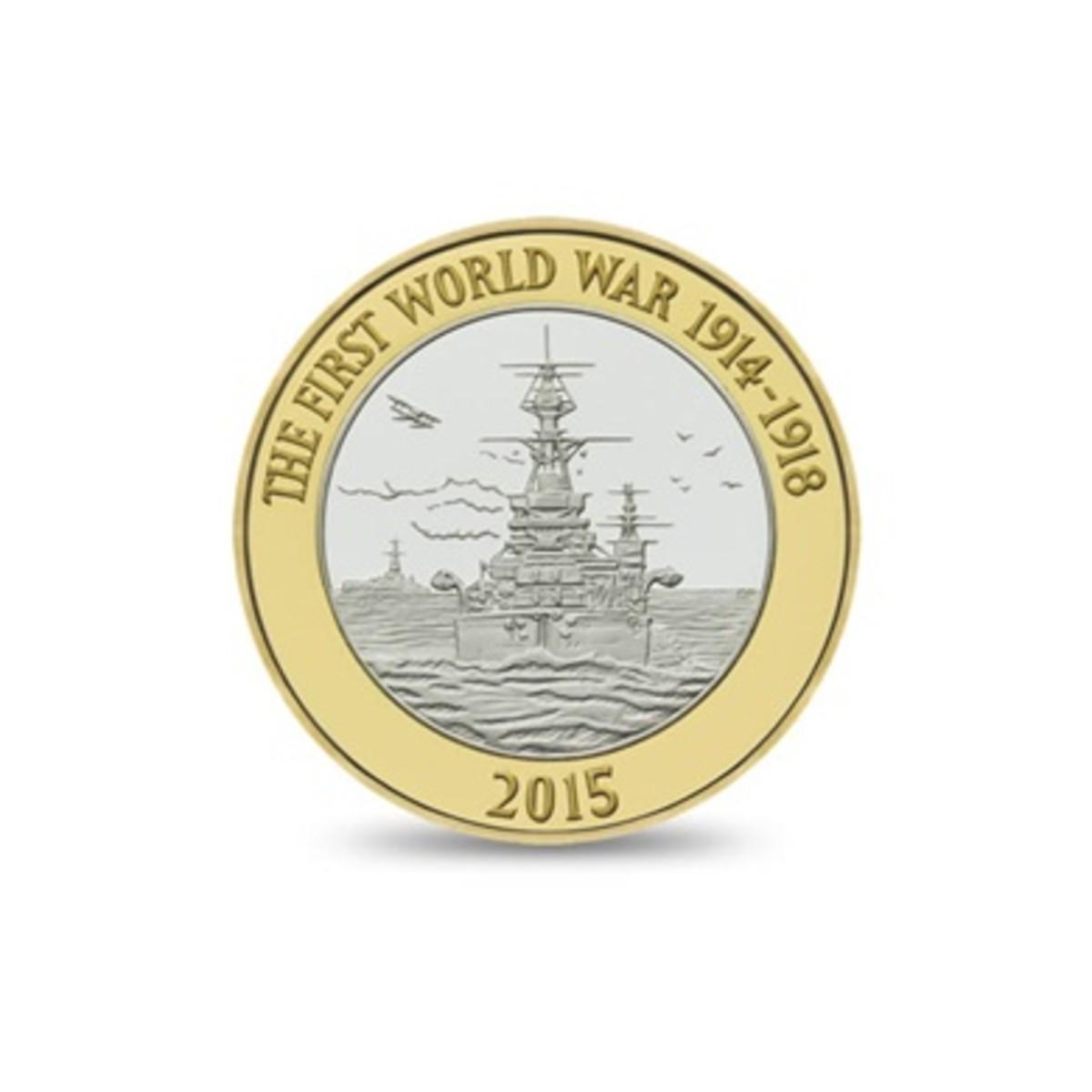 The Royal Navy 2015 £2 Coin