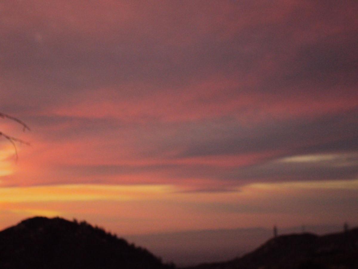 Sunset view of Hesperia.