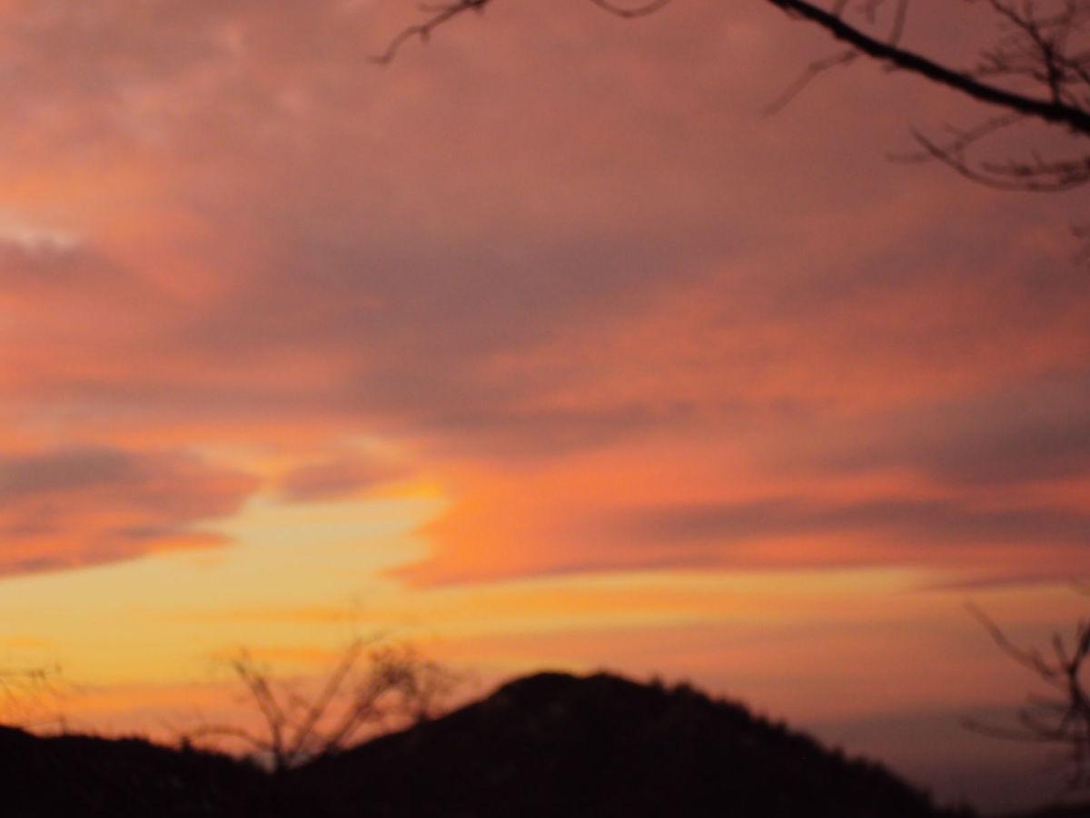 Sunset in the San Bernardino Mountains.