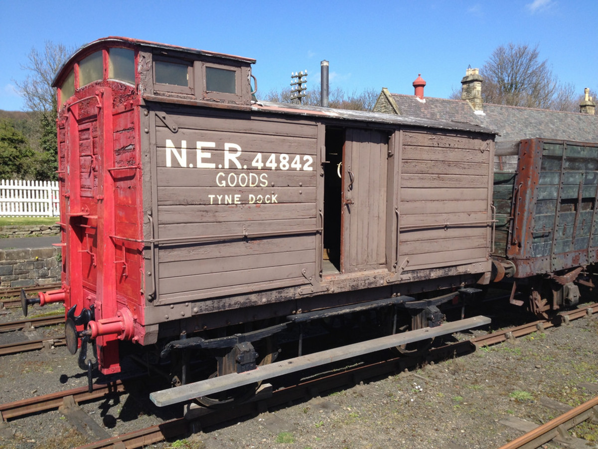 North Eastern Railway 'birdcage' brake van assigned to Tyne Dock yard