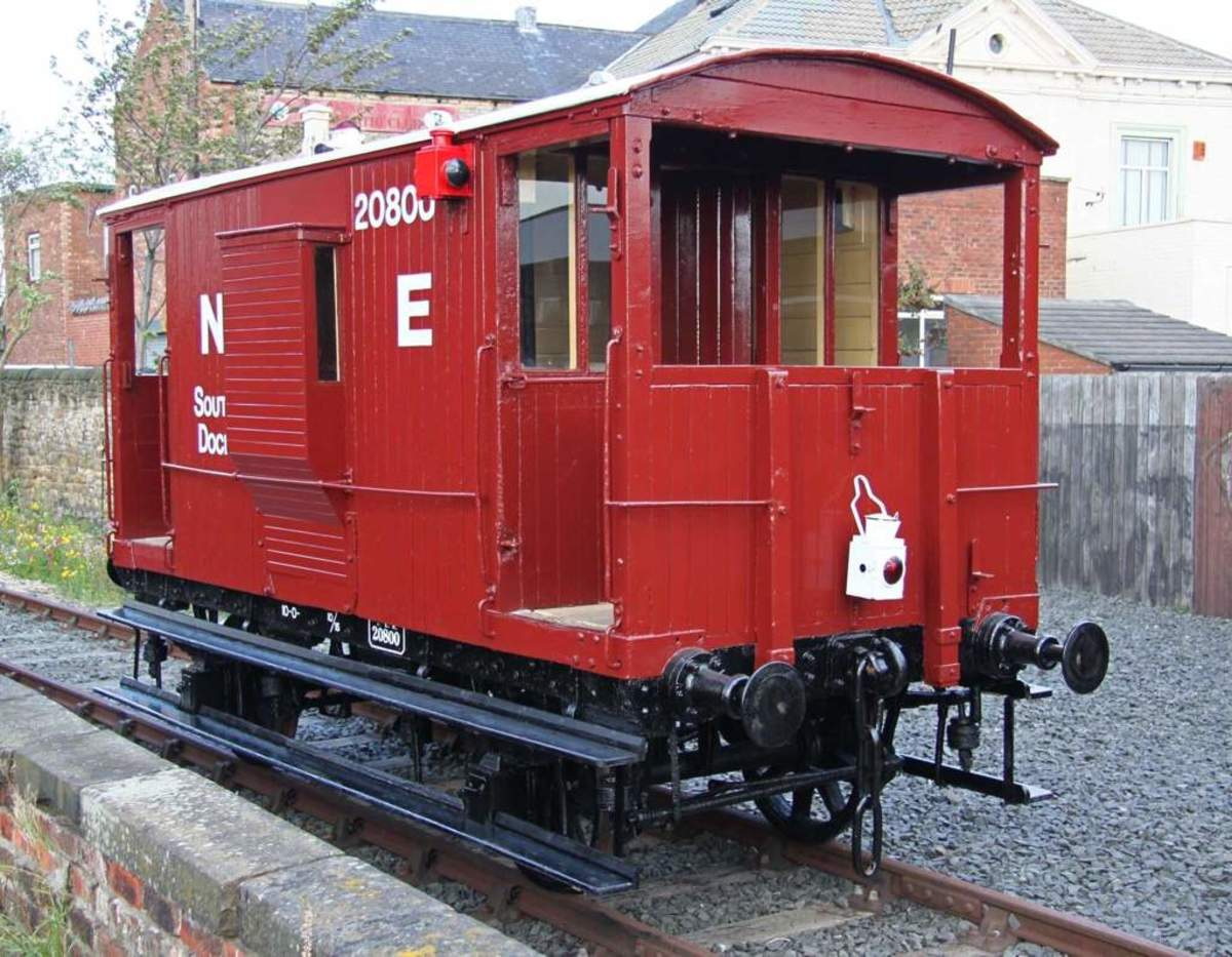 Later NER standard brakevan design adopted as standard 'Toad B' by LNER with same lettering