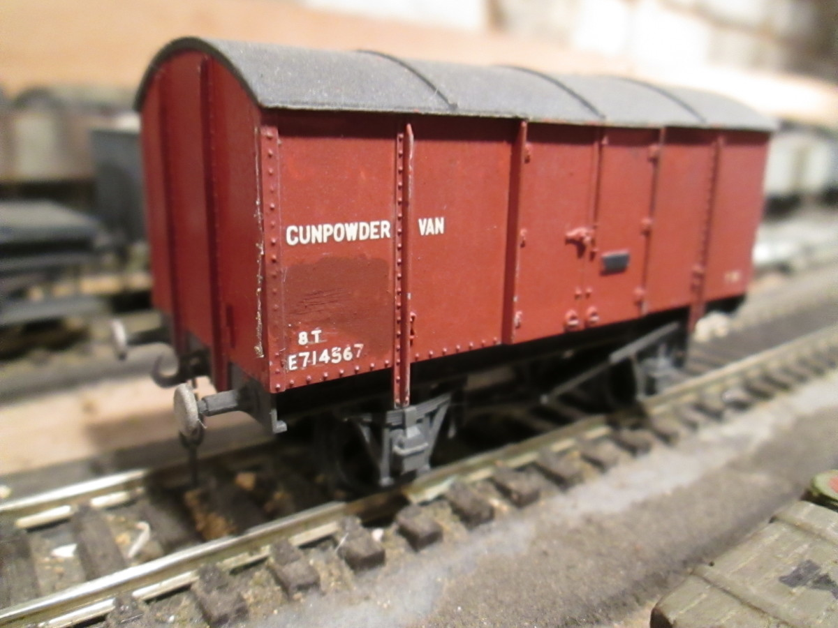 Ex-LNER Gunpowder Van - not military but for mining and quarrying. Up to the early 1960s mining and quarrying was as widespread in the North East of England as elsewhere in the former LNER area (central-eastern England to the Scottish Border)