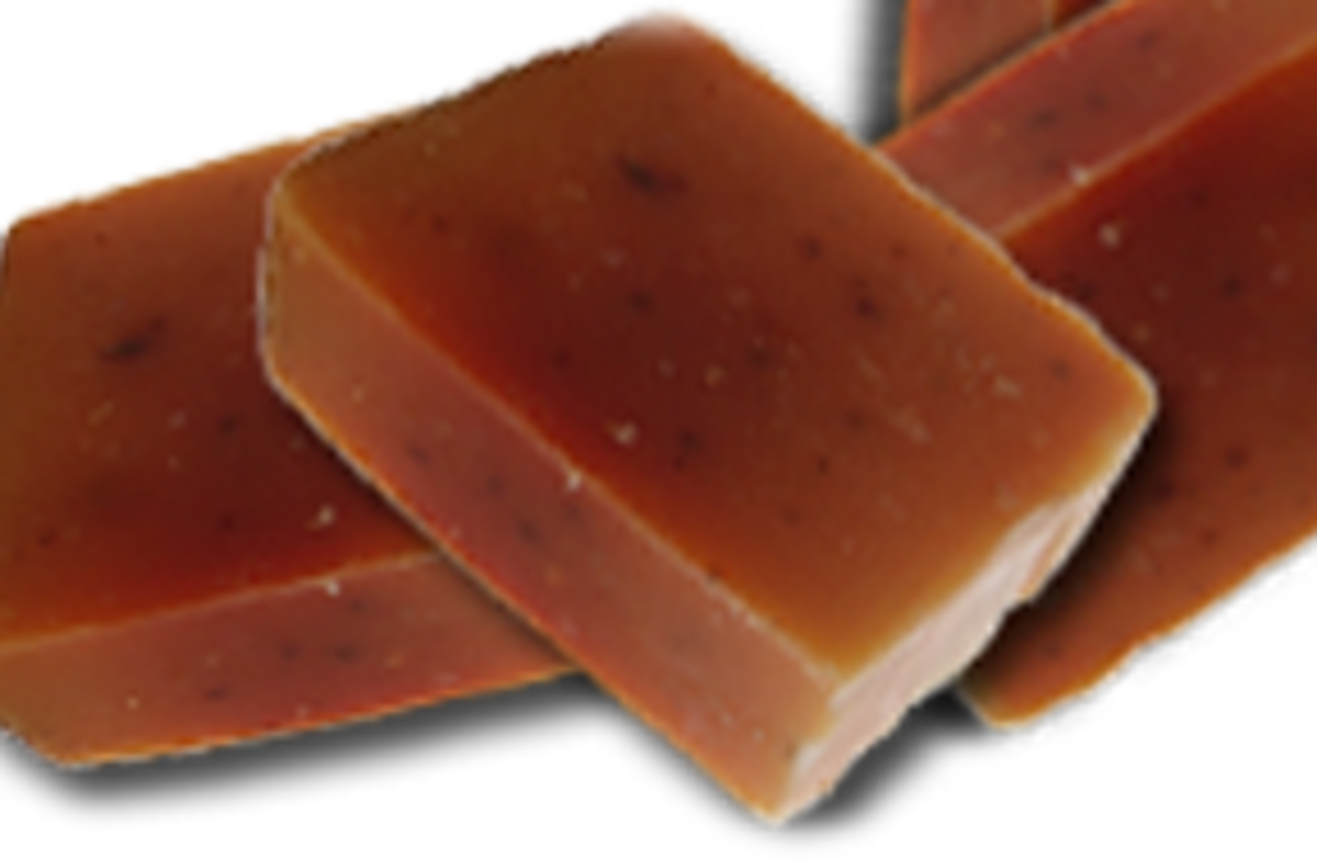 lovely bars of homemade soap - anyone can do this.  It's complex but not hard.