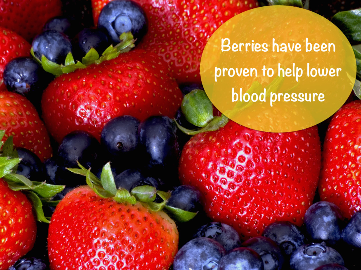 The anthocyanins in berries help reduce high blood pressure.