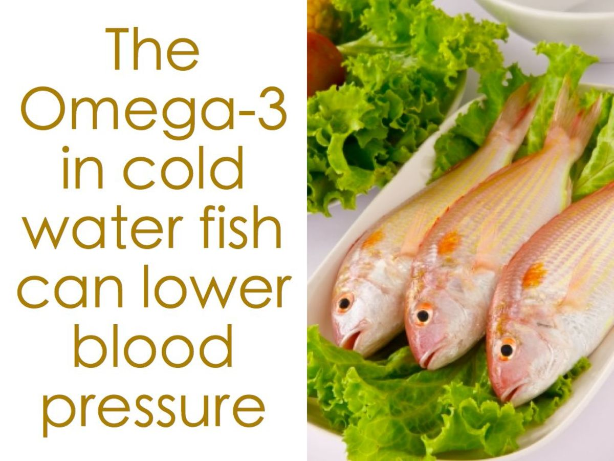 Fish oil can help lower blood pressure.