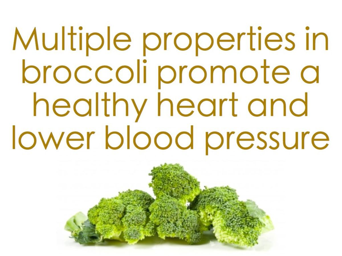 Broccoli can help reduce high blood pressure.