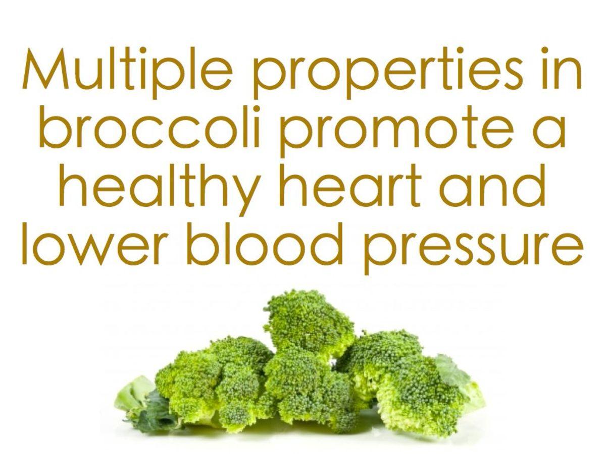 Broccoli can help reduce high blood pressure.