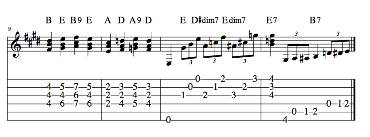 Blues Guitar Chord Progressions • The Three Chord