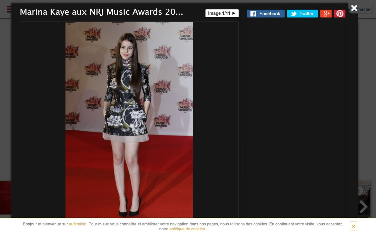 Picture of Marina Kaye in dress.