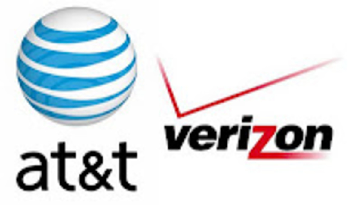 Shared plans from both AT&T and Verizon Wireless include certain numbers of GBs.
